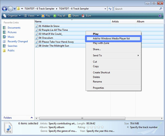 how to add music to windows media player