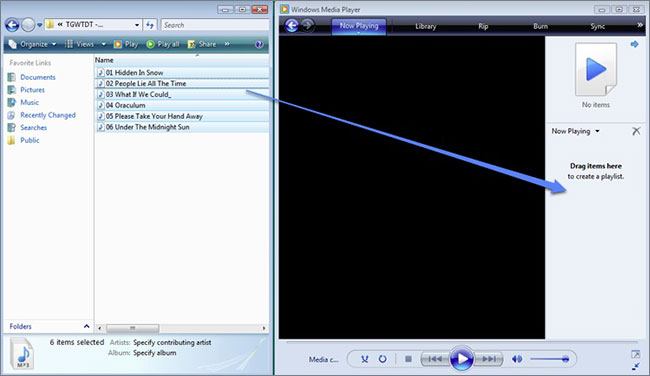 add music to windows media player