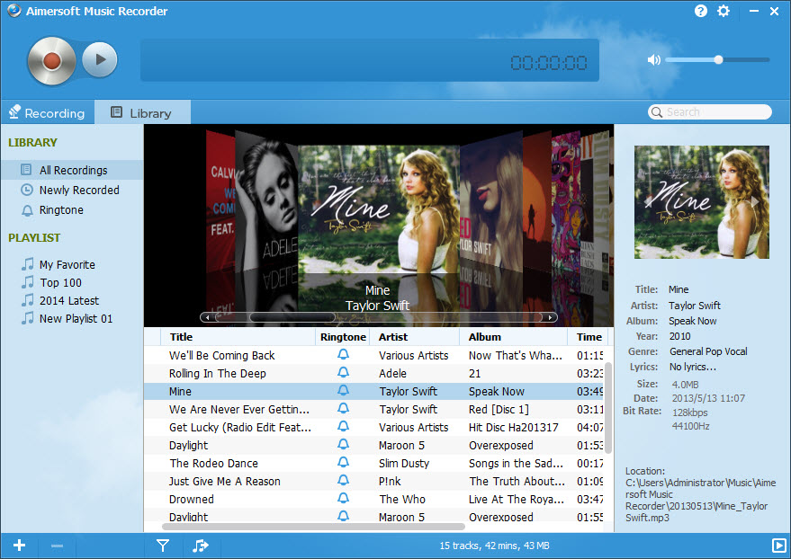 Spotify Recorder for Windows