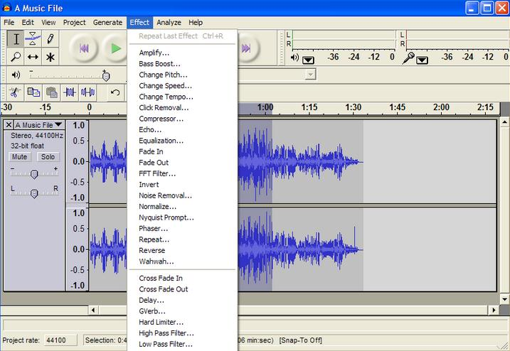 audacity audio effects