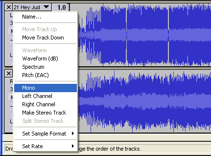 using audacity to remove vocals