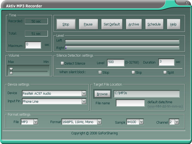 Download Streaming Audio - Aktiv MP3 Recorder