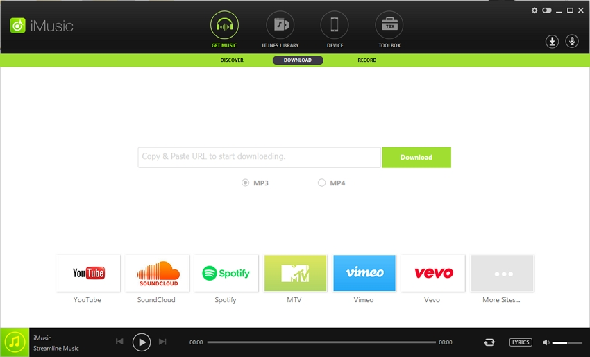 Download Music from YouTube on Android - Start iMusic on Android