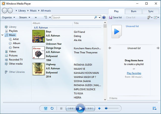 windows media player burn cd