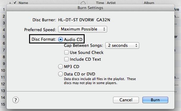 burn itunes music to cd using itunes