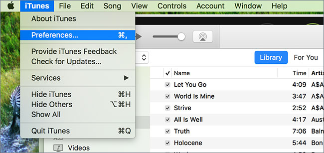 convertir itunes vers mp3