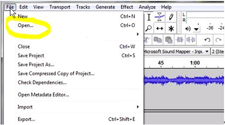 how to cut mp3 audacity