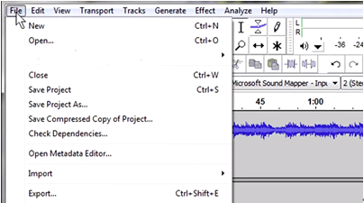 export mp3 file