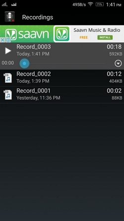 download free deezer - with Smart voice recorder step 3