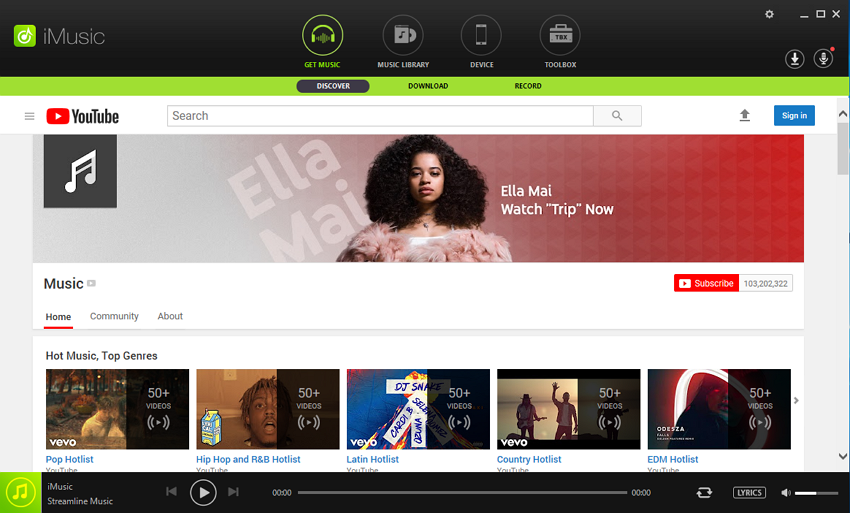 deezer music to itunes - step 1 with iMusic