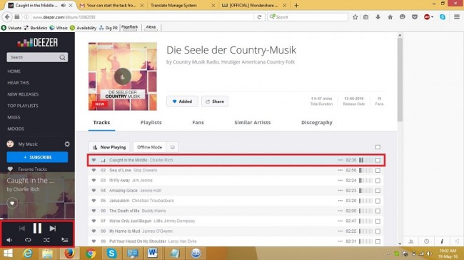 deezer player - recording way step 2