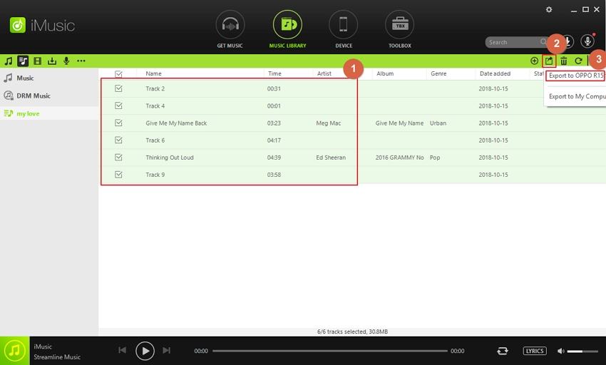 spotify to deezer - download music step 5
