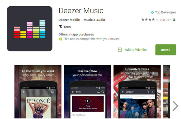 deezer app - step 1 deezer app for android