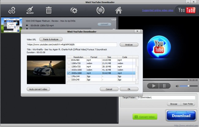 Deezer Converter - WinX YouTube Downloader