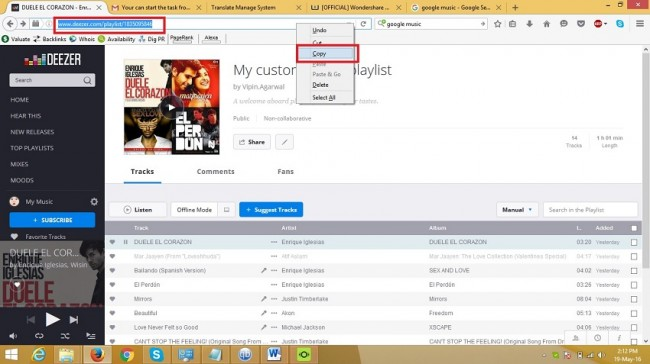 deezer player - downloading way step 1