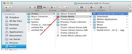 música de e-mail do itunes no mac