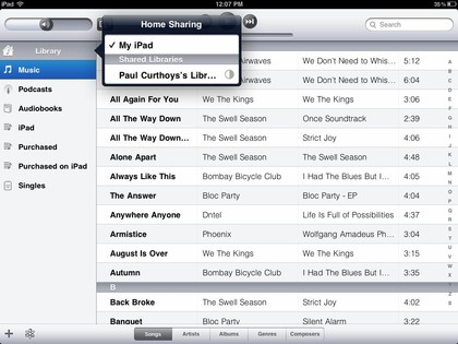 transfer music ipod to ipad