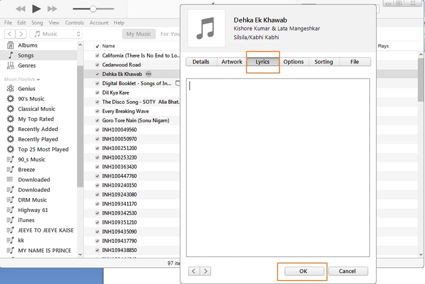 How to Get Lyrics on iTunes Easily