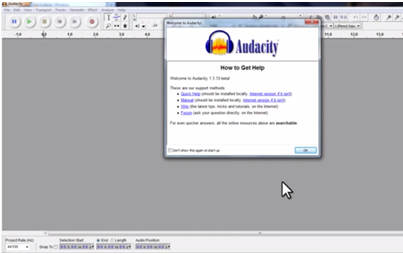 import m4a to audacity