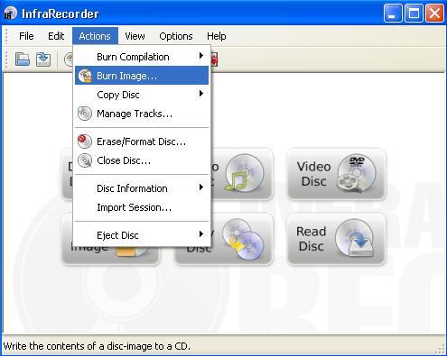 programas para grabar musica en cdInfraRecorder