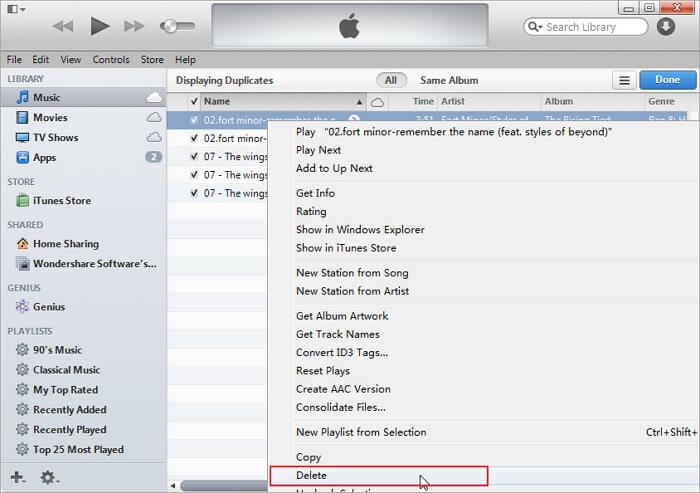 how to clean itunes library