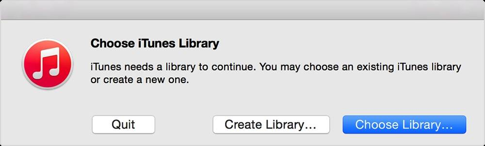 How to Back up Your iTunes Library to An External Drive-Choose Library
