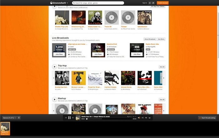 transfer Grooveshark to iTunes-play the song