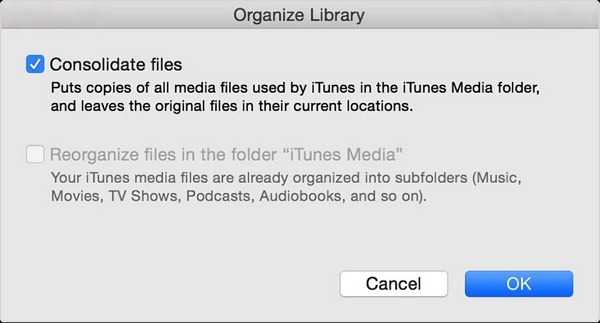 How to Back up Your iTunes Library to An External Drive-Consolidate files