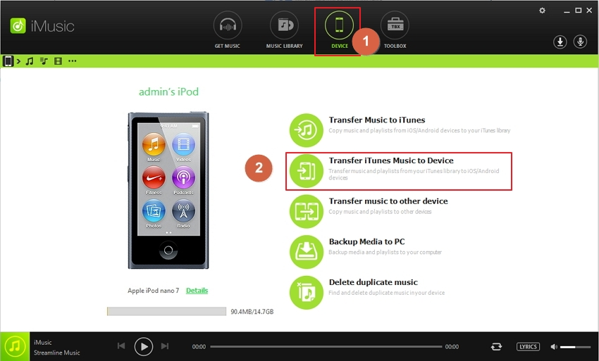 transfer playlists to iPod-transfer itunes music to device