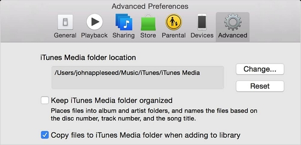 How to Back up Your iTunes Library to An External Drive-folder location