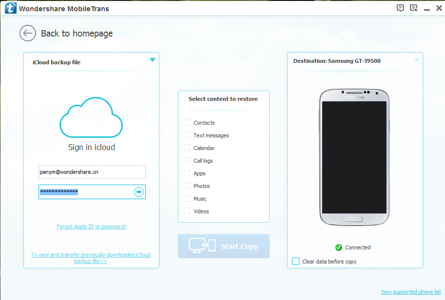 itunes backup alternative-Transfer data from iCloud to Android