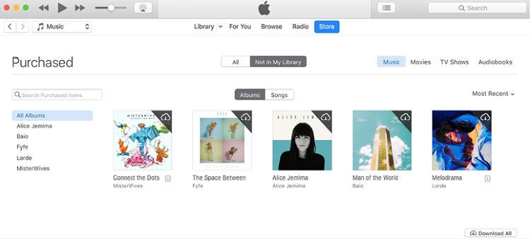 download music from icloud to itunes