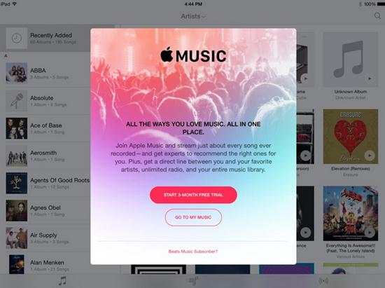 launch apple music on ipad