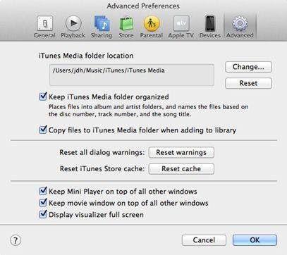 transférer itunes vers un disque dur externe