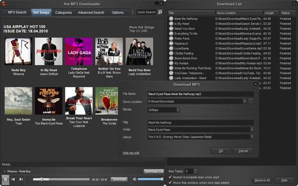 10 free online music downloader - Hot MP3 Downloader