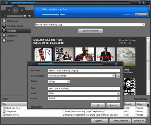 10 free online music downloader - Speed MP3 Downloader