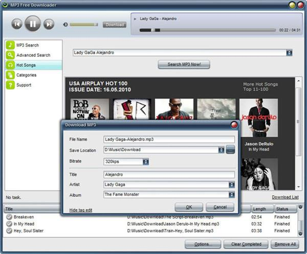10 free online music downloader - Free MP3 Downloader