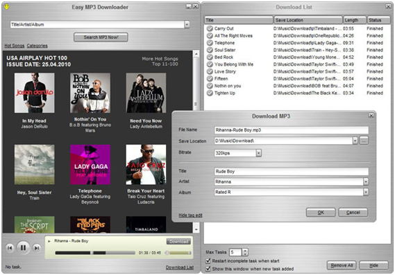 10 free online music downloader - Easy MP3 Downloader