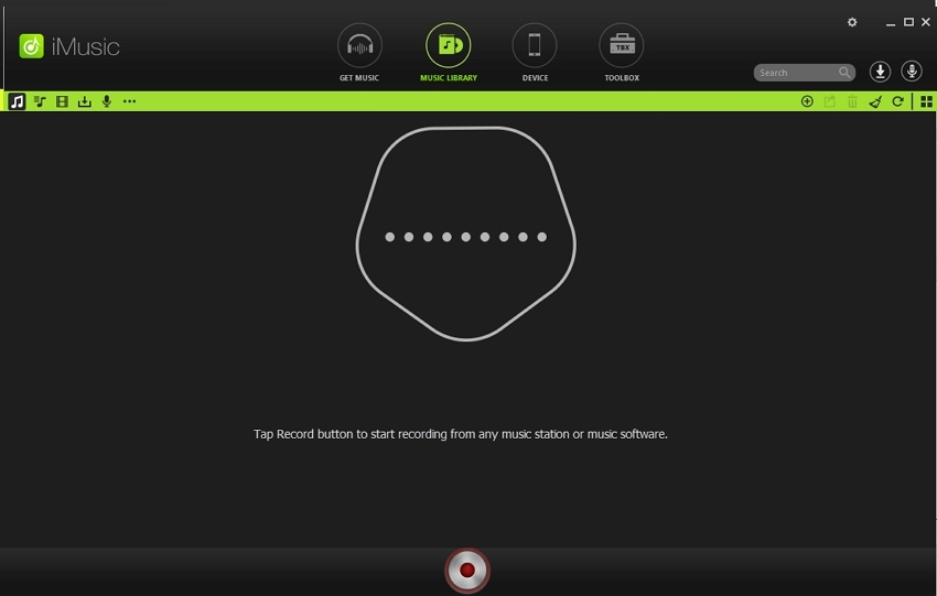 Grooveshark Music Downloader - Click Record Button