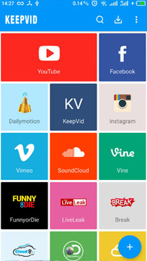 music downloader apps - KeepVid Android