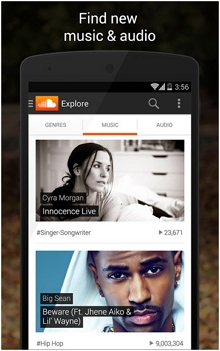 Top 10 MP3 music downloader for Android - Soundcloud