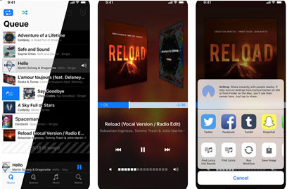 music apps for iphone