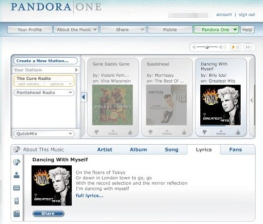 windows pandora