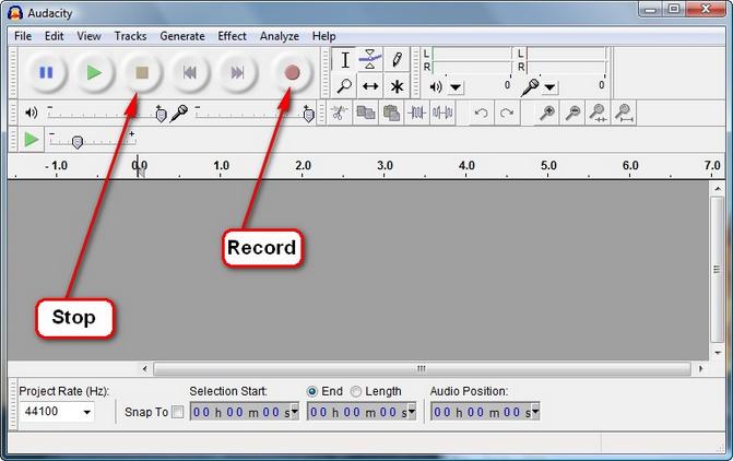 click on recording button