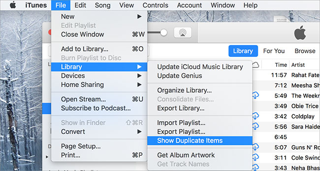 remove duplicates from itunes
