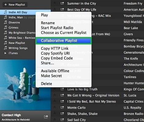 How to Make a Spotify Collaborative Playlist on PC-select collaborative playlist