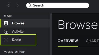 Enjoy yourself with Spotify Radio anytime and anywhere- on Windows