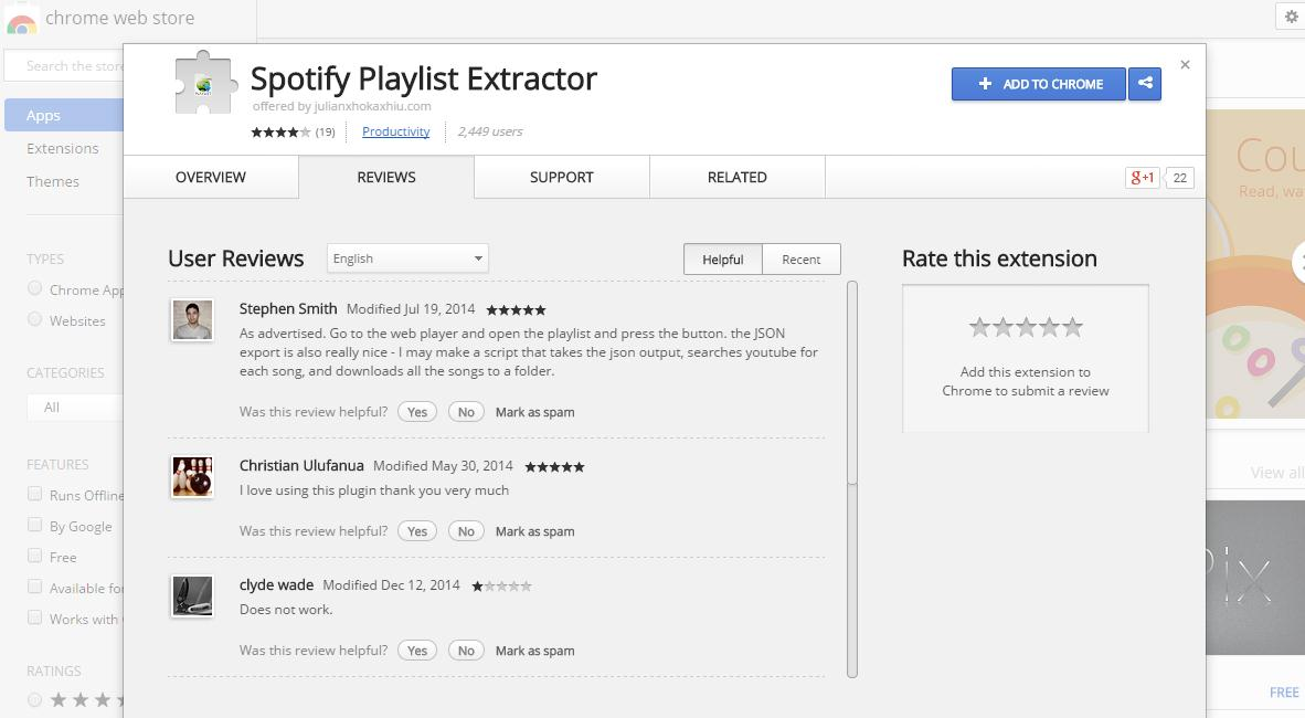 Extract Your Spotify Playlist-download extension