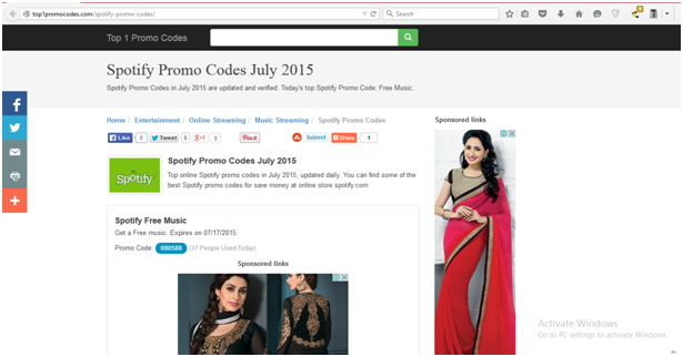 Top 10 Sites to Get Spotify Coupon,Spotify Promo Codes and Discount Codes