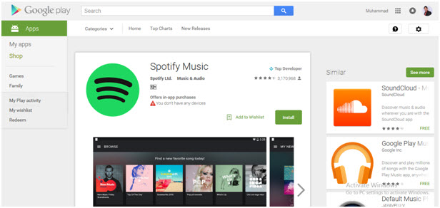Guides for spotify APK download-Google Play Store